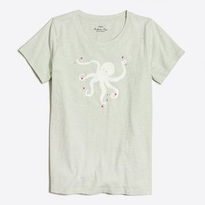 J. Crew Factory Green Octopus Collector T-Shirt